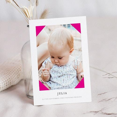 Geburtskarten für Mädchen Pretty Pink