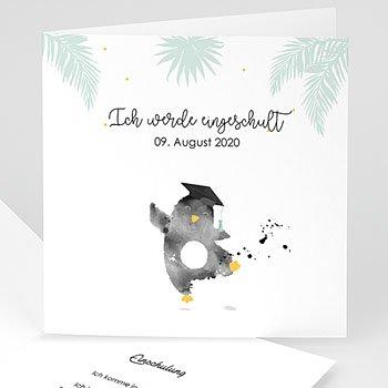 Einladungskarten Einschulung - Pinguin - 0