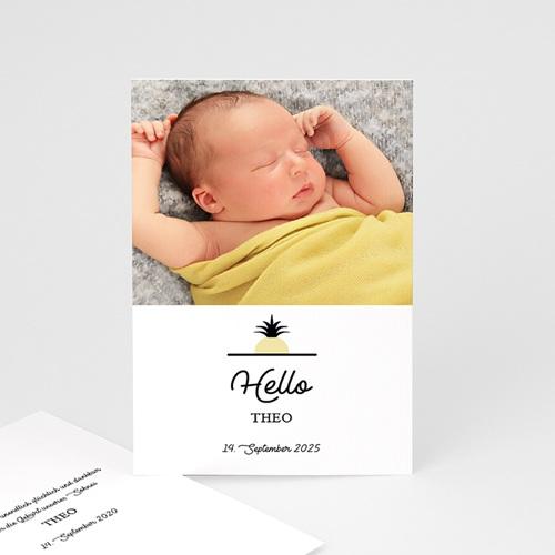 Geburtskarten für Jungen Little Ananas