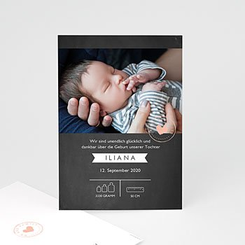 Geburtskarten für Mädchen - Made in Love - 0