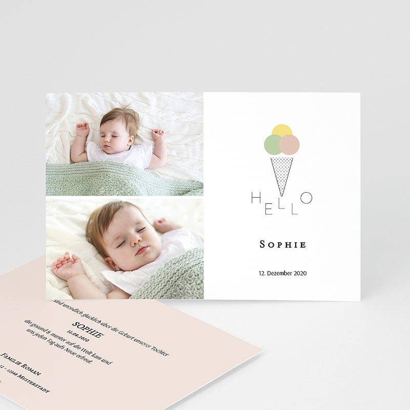 Geburtskarten für Mädchen Sommerfrische
