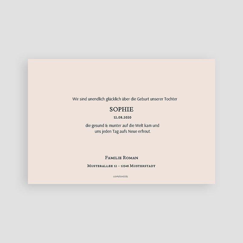Geburtskarten für Mädchen Sommerfrische pas cher