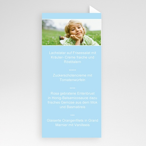 Menükarten Kommunion - Zartes Blau 6498 thumb