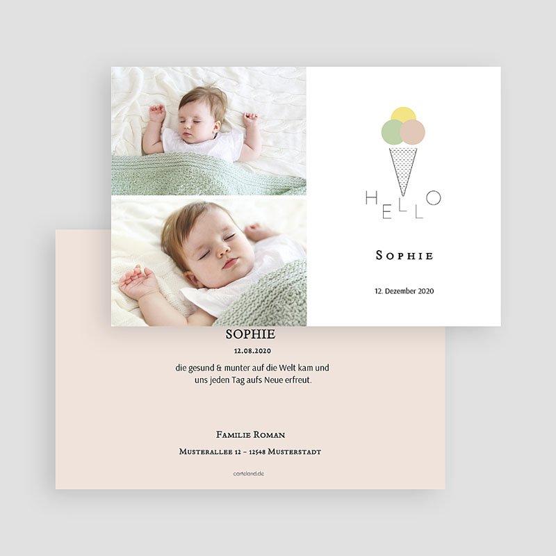 Geburtskarten für Mädchen Sommerfrische gratuit