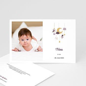Geburtskarten für Mädchen - Mobile Rosa - 0