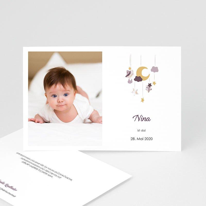 Geburtskarten für Mädchen Mobile Rosa