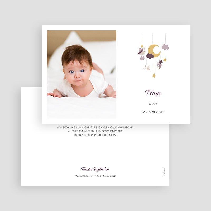 Geburtskarten für Mädchen Mobile Rosa gratuit