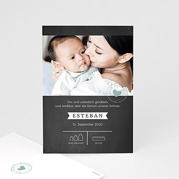 Geburtskarten für Jungen - Tafel und Kreide - 0