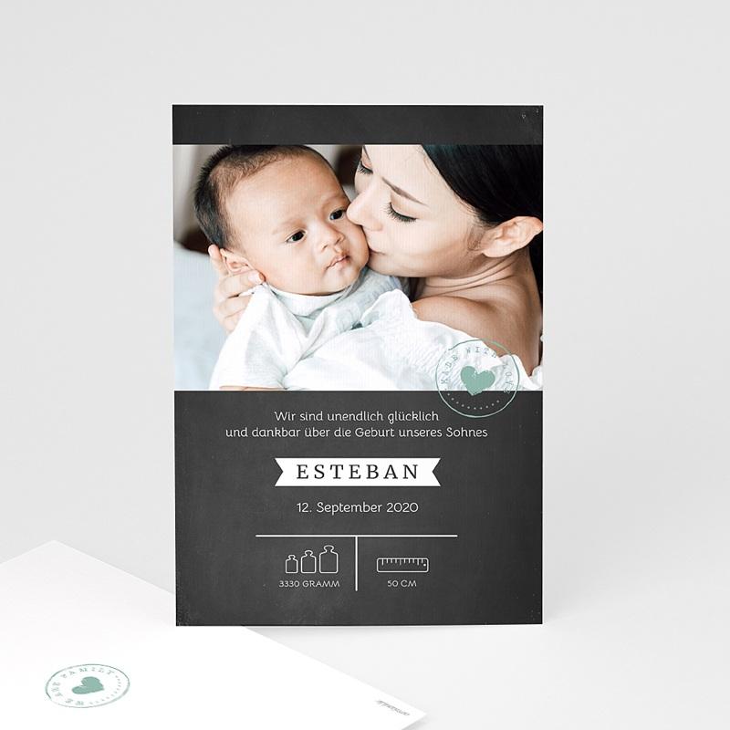 Geburtskarten für Jungen Tafel und Kreide