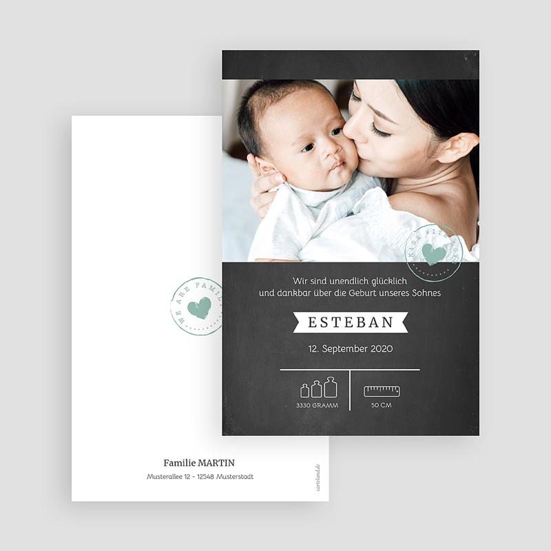 Geburtskarten für Jungen Tafel und Kreide gratuit
