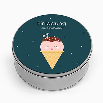 Blechdose mit Foto Happy Icecream