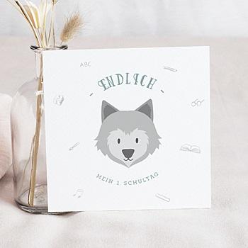 Einladungskarten Einschulung - Kleiner Wolf - 0