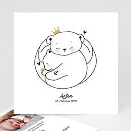 Geburtskarten für Jungen Bärenfamilie