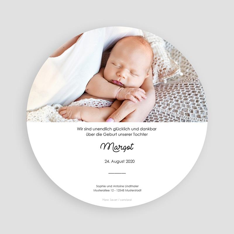Geburtskarten für Mädchen Familie Hase pas cher
