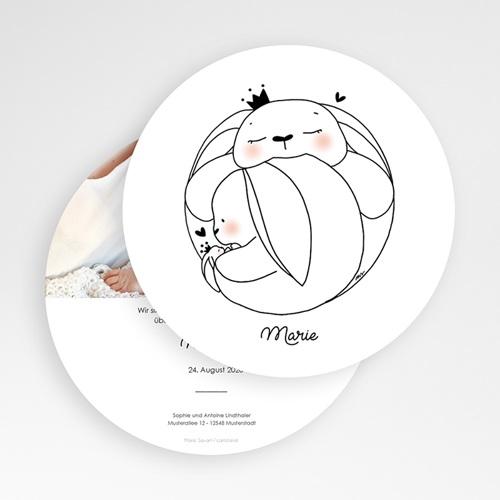 Geburtskarten für Mädchen Familie Hase gratuit