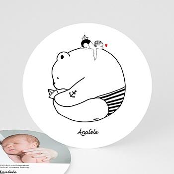 Geburtskarten für Jungen - Bär und Boot - 0