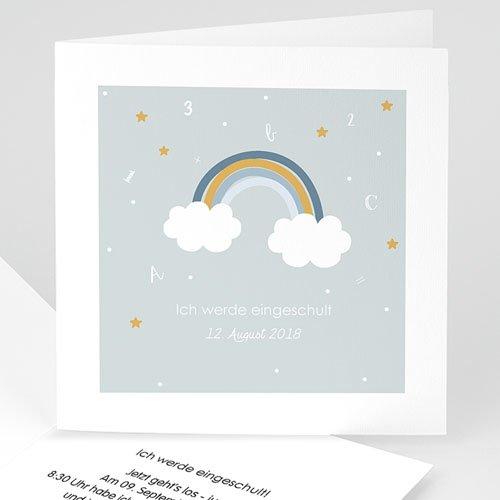 Einladungskarten Einschulung Regenbogen