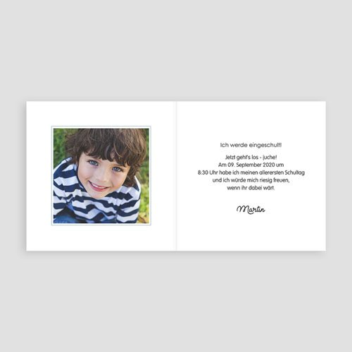 Einladungskarten Einschulung Regenbogen pas cher
