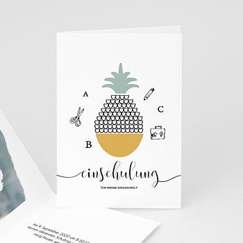 Einladungskarten Einschulung - Ananas - 0