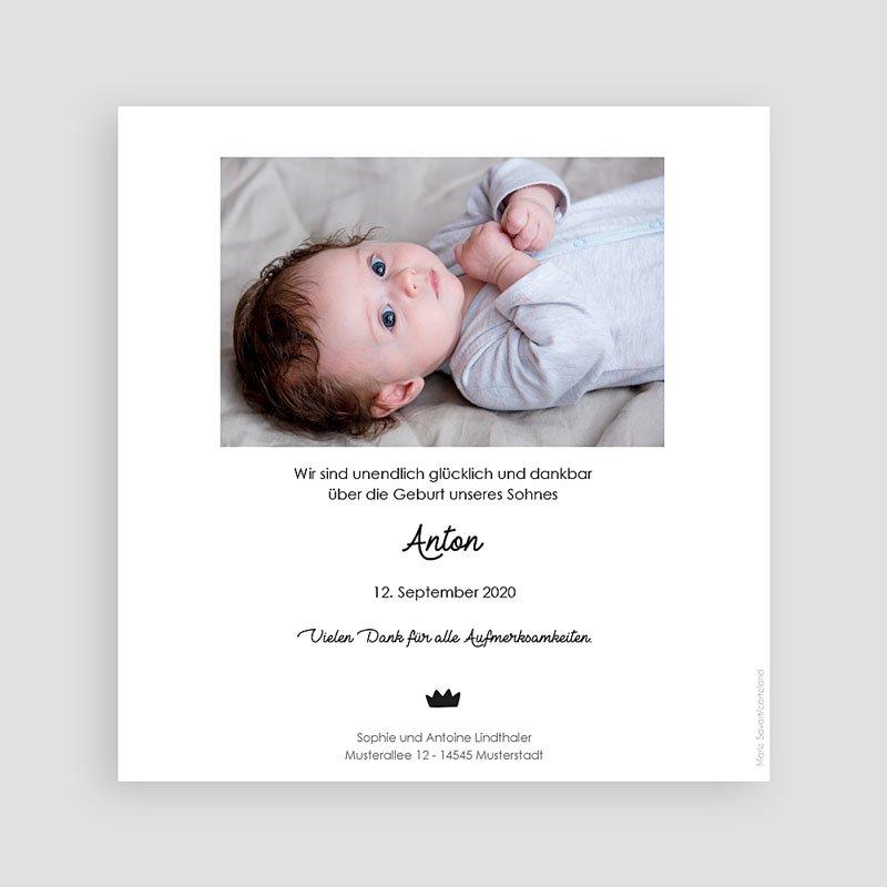 Geburtskarten für Jungen Goldschwan pas cher