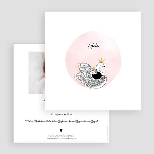 Geburtskarten für Mädchen Rosa Schwan gratuit
