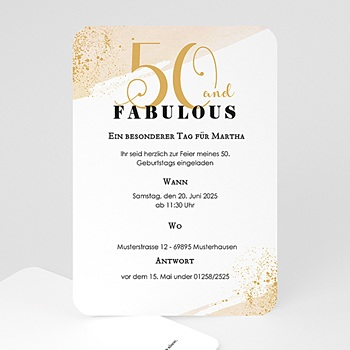 Einladung 50 Geburtstag Top Kartendesigns Carteland De