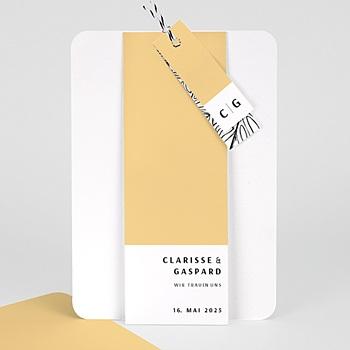 Kreative Hochzeitskarten - Yellow - 0