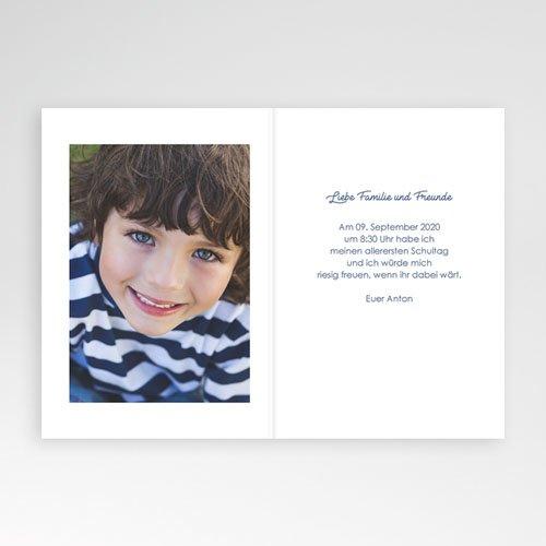 Einladungskarten Einschulung Notizheft pas cher