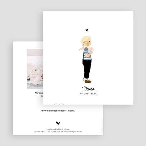Geburtskarten für Geschwister Geschwisterpaar gratuit