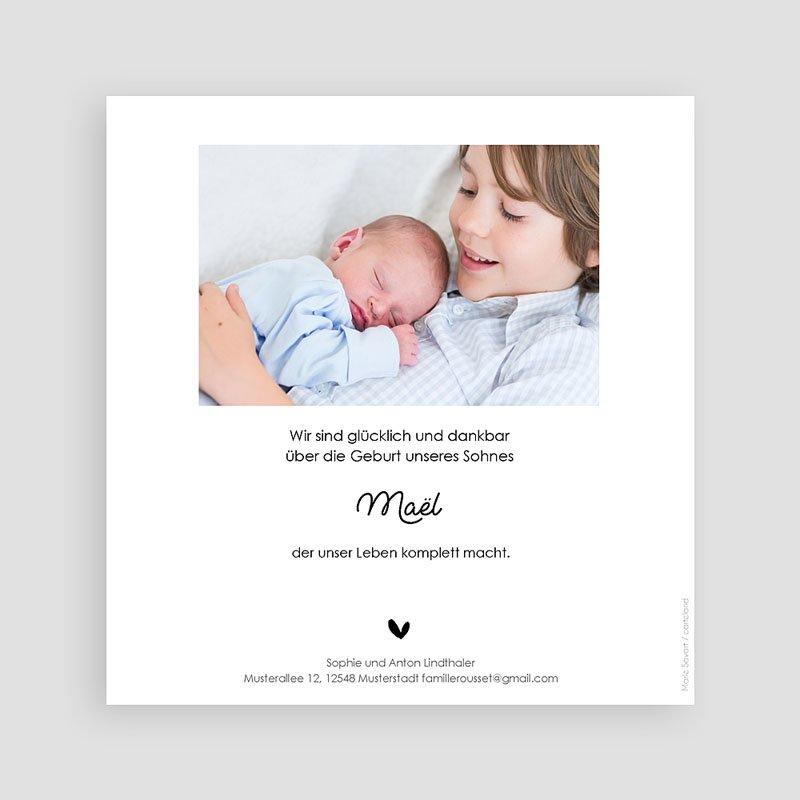 Geburtskarten für Geschwister Geschwisterliebe pas cher