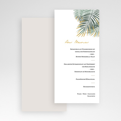 Menükarten Hochzeit Palm Springs pas cher
