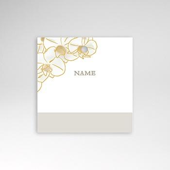 Tischkarten Hochzeit - Gold Orchidee - 0