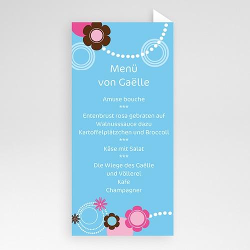 Menükarten Taufe - Viola 6554 preview