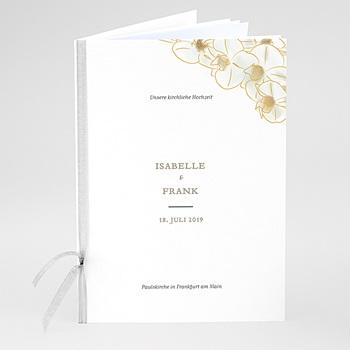 Kirchenheft zur Hochzeit individuell gestalten - Gold Orchidee - 0