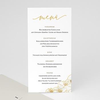 Menükarten Hochzeit - Gold Orchidee - 0