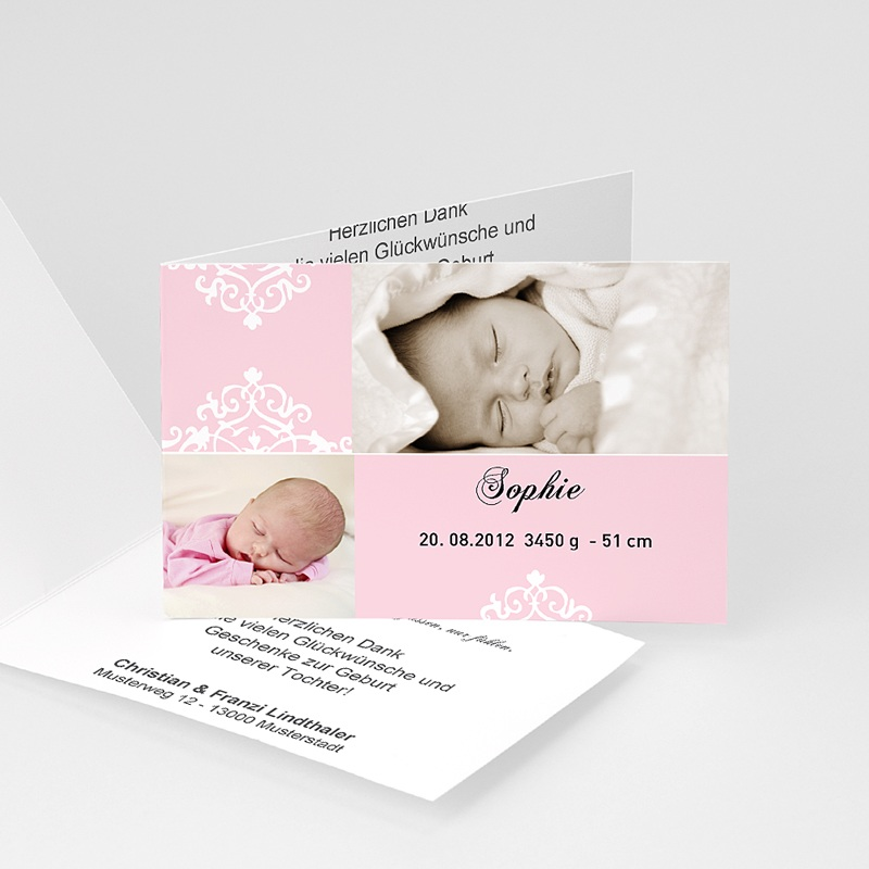 Geburtskarten für Mädchen Lilie