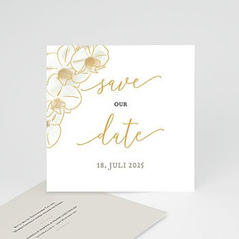 Save The Date  - Gold Orchidee - 0