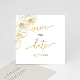 Save The Date  Gold Orchidee