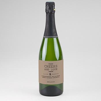 Flaschenetiketten Hochzeit - Hazelnut - 0