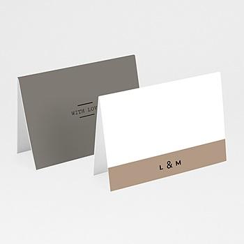Tischkarten Hochzeit - Hazelnut - 0