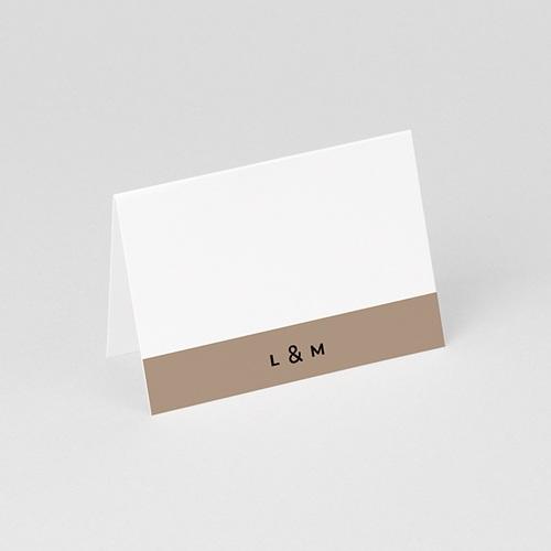 Tischkarten Hochzeit Hazelnut gratuit