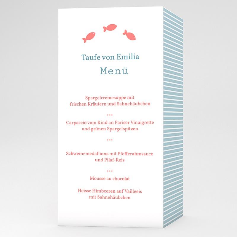 Menükarten Taufe - Louis 6585 thumb