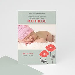 Babykarte Mohnblume - 1