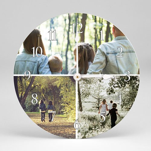 Personalisierte Fotouhr Fotouhr rund