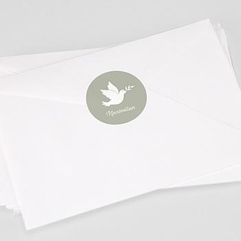Aufkleber Taufe - Symbol Taube - 0