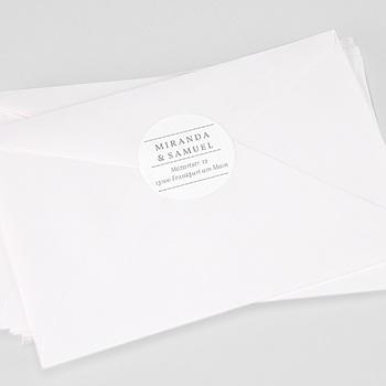 Aufkleber Hochzeit - Minimalist Botanik - 0