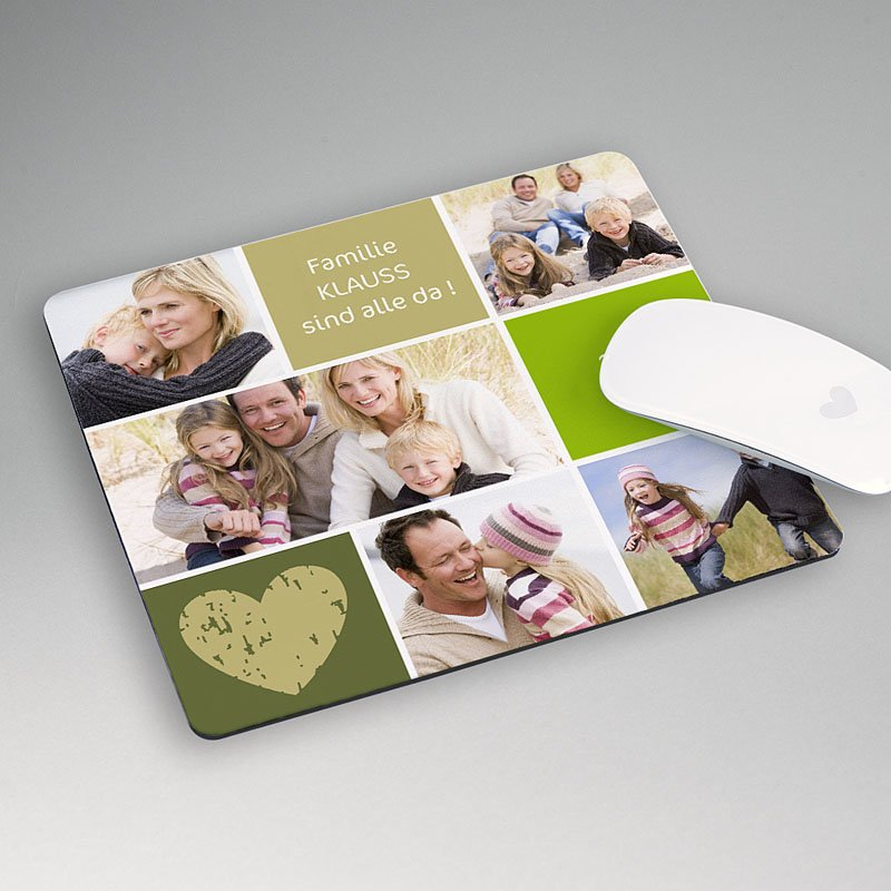 Personalisierte Foto-Mousepad Multifoto