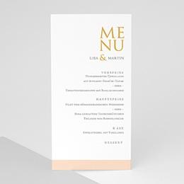 Menükarten Hochzeit Sleekly Simple