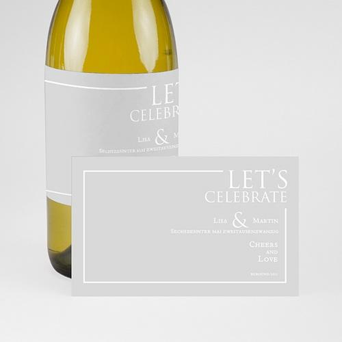 Flaschenetiketten Hochzeit Sleekly Simple pas cher