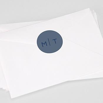 Aufkleber Hochzeit - Modern Minimalist - 0
